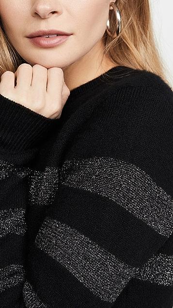 Pam & Gela Металлизированный свитер в полоску с округлым вырезом