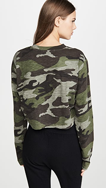 Pam & Gela 迷彩休闲短款衬衫