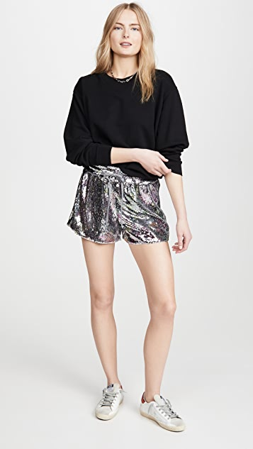 Pam & Gela Sequin Hi-Waist Shorts
