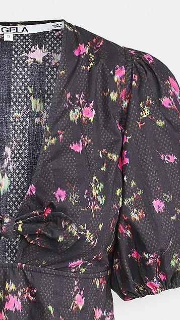 Pam & Gela U20 Neon Ditsy Dress