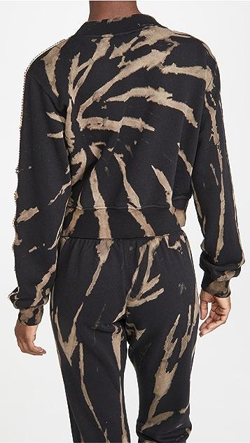 Pam & Gela 水钻装饰短款运动衫