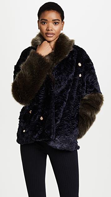 Pamplemousse Elise Faux Fur Coat