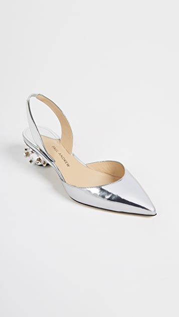 Paul Andrew Spiked Ball Heel Slingback Sandals