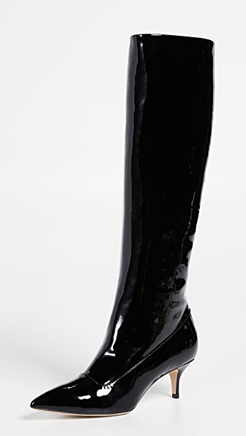 Paul Andrew Nadia Patent Leather Boots