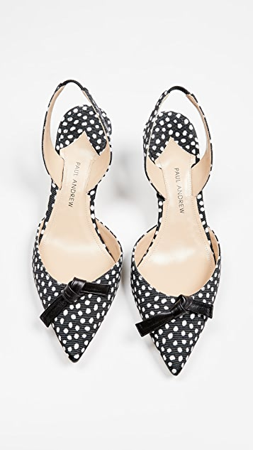 Paul Andrew Rhea Knot 55mm Slingback Pumps