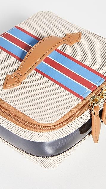 Paravel Mini Stripe See All Vanity Case