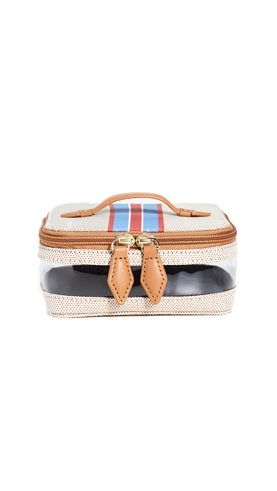 Paravel Mini Stripe See All Vanity Case