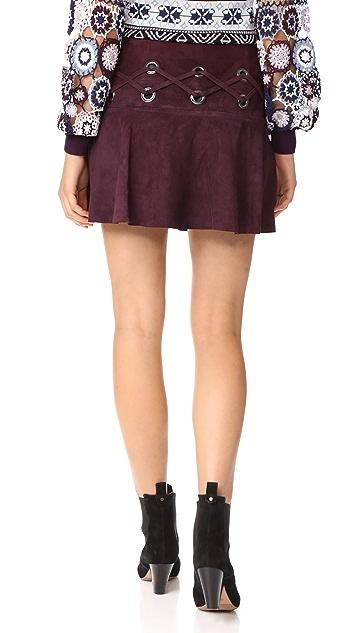 Parker Milos Suede Skirt