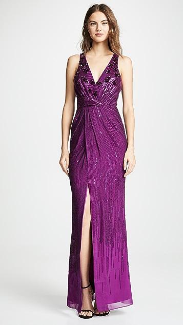 Parker Вечернее платье Parke Black Monarch