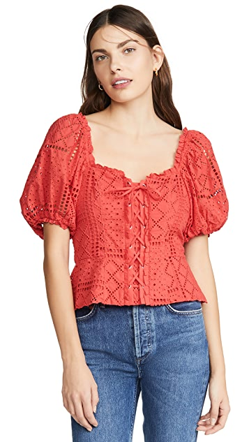 Parker Комбинированная блуза Chica