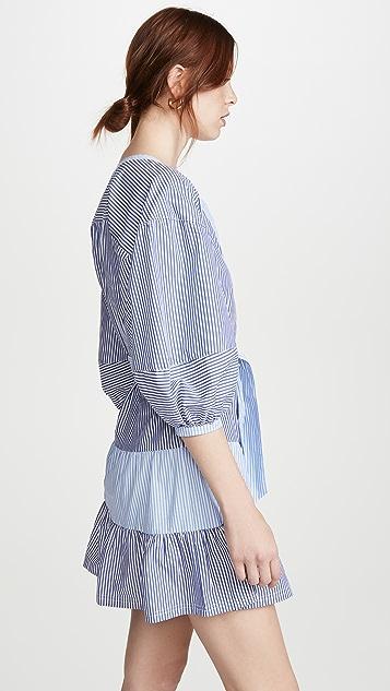 Parker Комбинированное платье Jenna