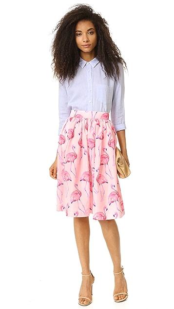 PARTYSKIRTS Pink Flamingo Skirt