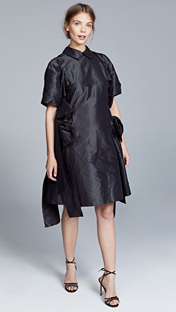 Paskal Point Collar Dress with Ties