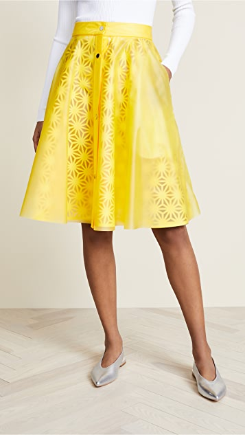 Paskal Laser Cut Skirt with Vinyl Slip