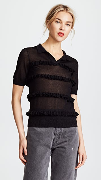 Paskal Ruffled Polo Shirt
