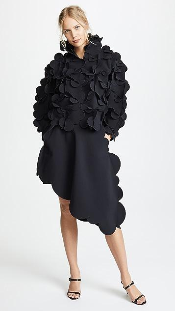 Paskal Scalloped Skirt with Diagonal Hem