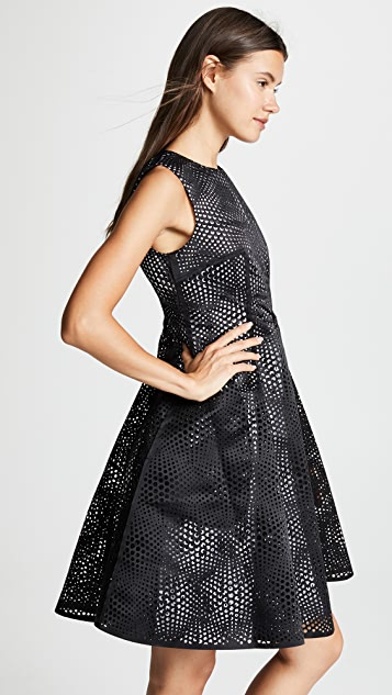 Paskal Laser Cut Optical Illusion Dress