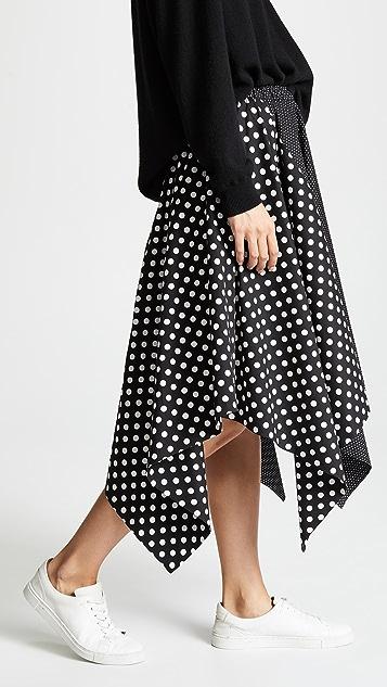 Paskal Elastic Waistband Flared Skirt