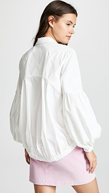 Paskal Bishop Sleeve Drawstring Shirt