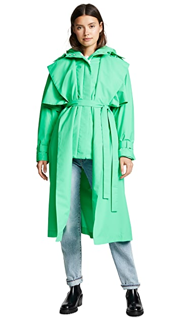 Paskal Puffer Coat with Trench Coat
