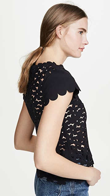 Paskal Laser Cut Floral Top