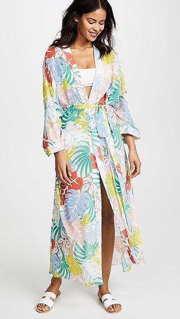 PatBO Tropical Floral Kimono