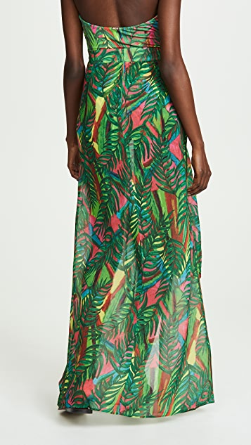 PatBO Electric Jungle Beach Skirt