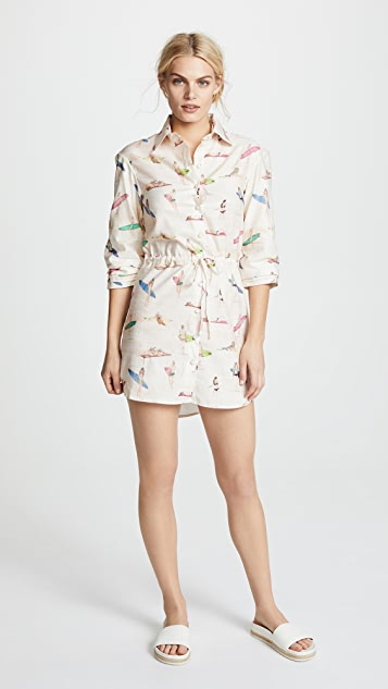 PatBO Surfer Print Mini Dress