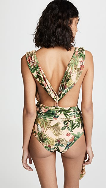 PatBO Paradise Cross-Front One Piece