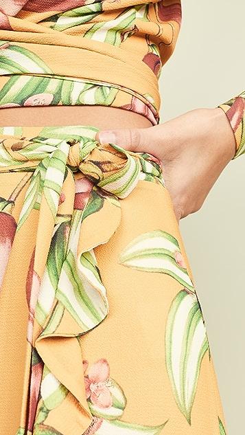 PatBO Zebrina 印花裹身半身裙