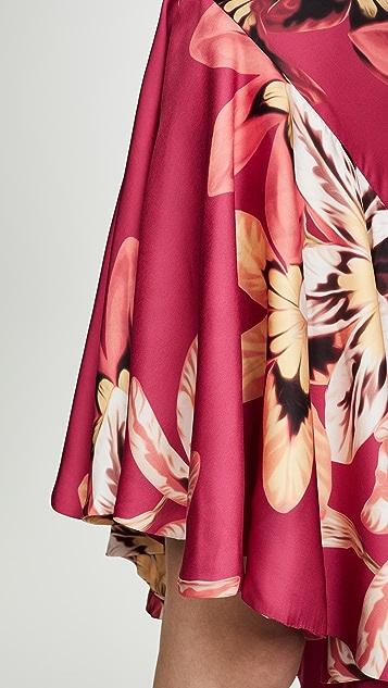 PatBO Floral Carmen Ruffle Slip Dress
