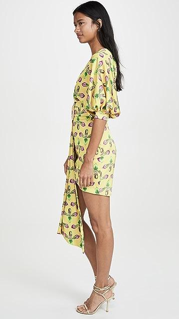 PatBO Асимметричное мини-платье с ремнем
