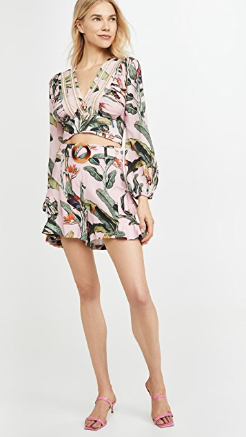 PatBo 热带风情印花短裤