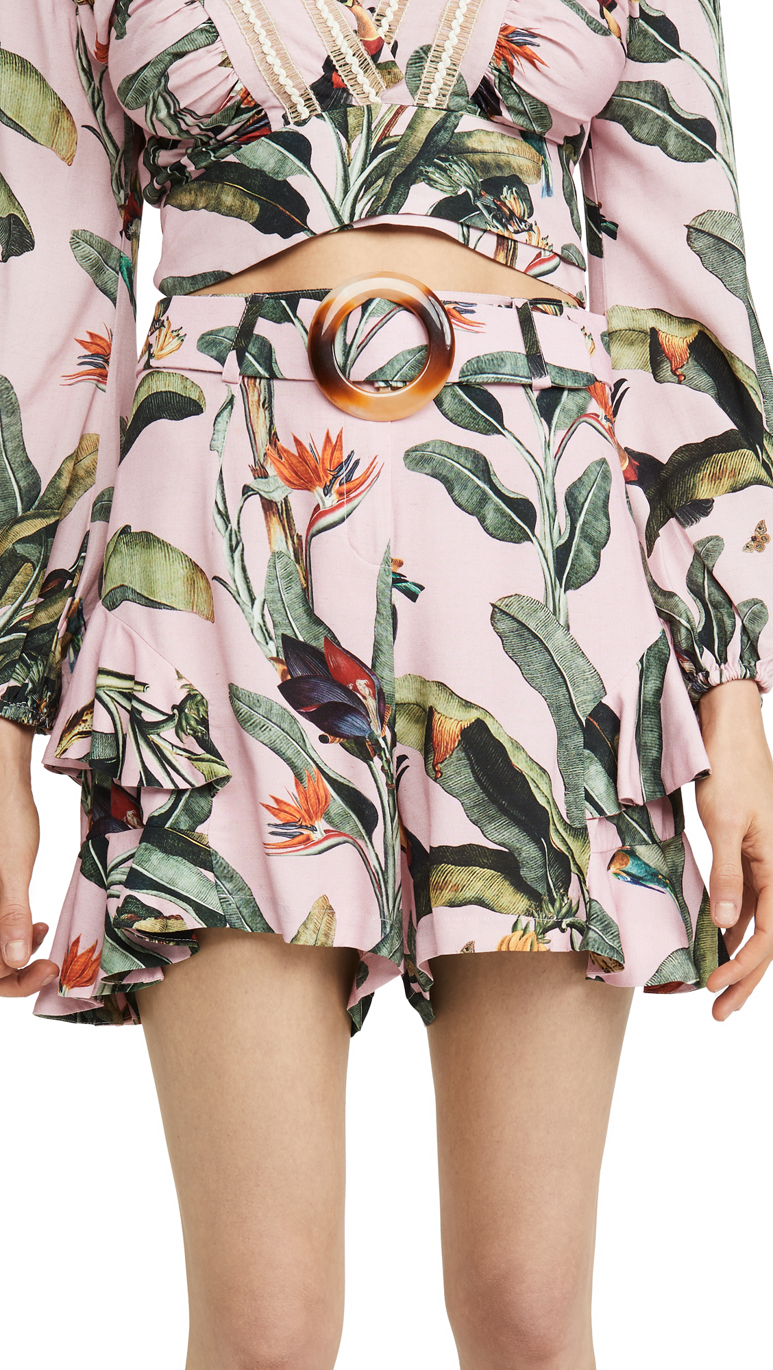 PatBO Tropical Print Shorts