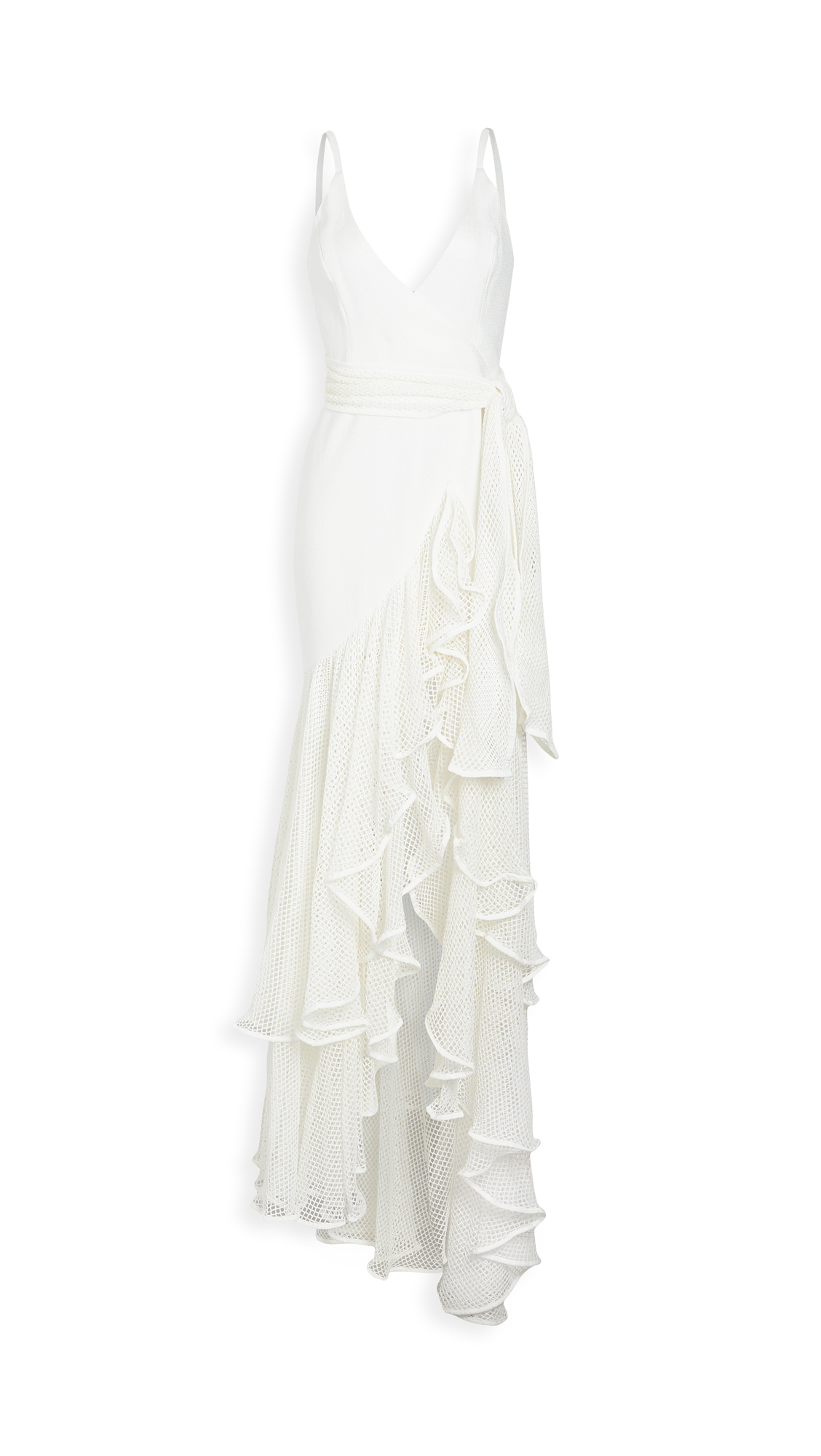 PatBO Mesh Trim Maxi Dress