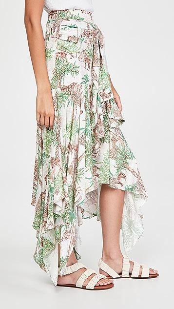 PatBO Savannah Midi Skirt
