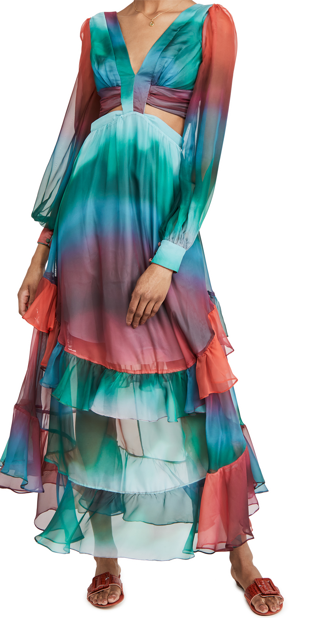 PatBO Sunset Cutout Maxi Dress