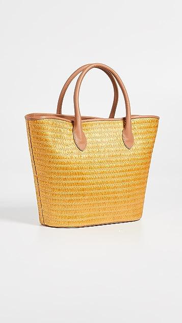 Poolside Bags Металлизированная объемная сумка с короткими ручками Superette