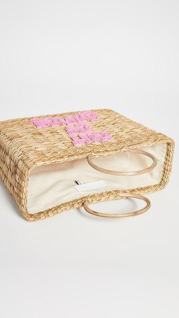Poolside Bags Объемная сумка Lizzy «Out Of Office» с короткими ручками и бахромой