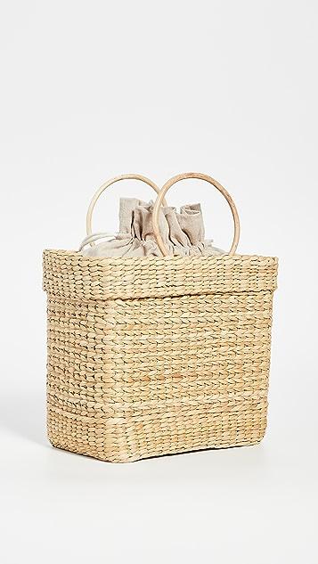 Poolside Bags Объемная сумка Lori с короткими ручками и надписью «Babe» из страз