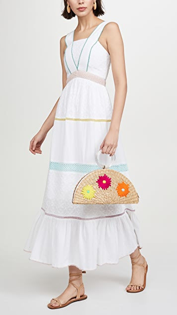 Poolside Bags Embroidered Croissant Bag