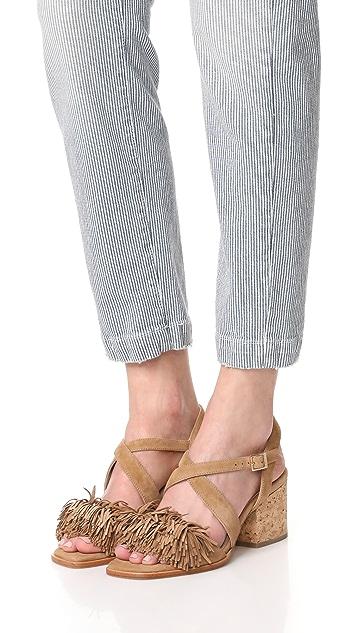 Paloma Barcelo Neville Fringe City Sandals