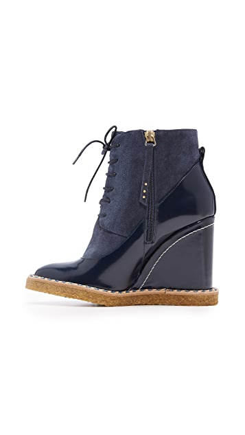 Paloma Barcelo Aspen Wedge Booties