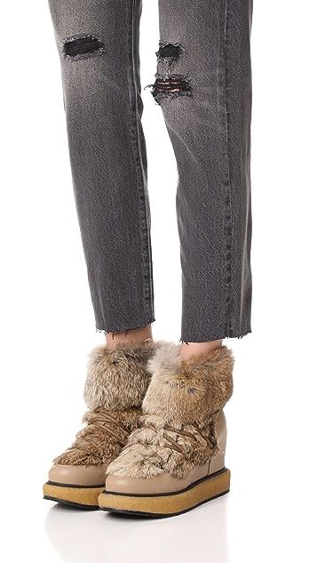 Paloma Barcelo Kansas Fur Wedge Booties