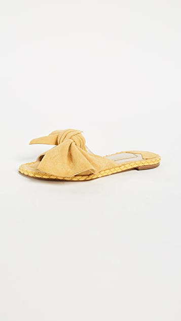 Paloma Barcelo Helecho Flat Mules - Yellow