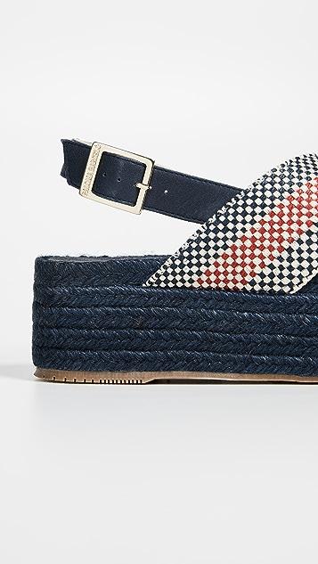 Paloma Barcelo Veronica Flatform Espadrille Sandals