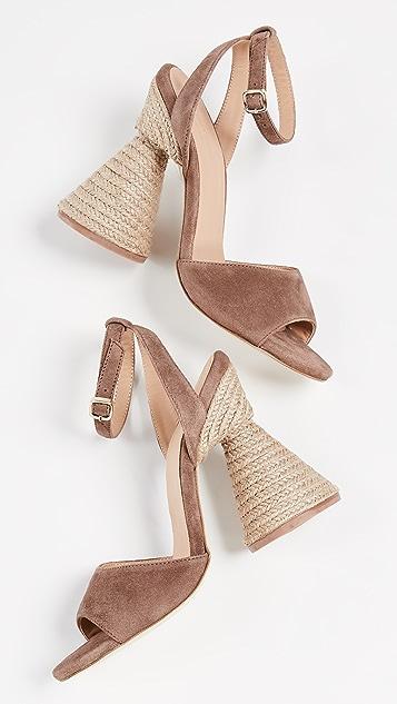 Paloma Barcelo Bilitis Cone Heel Sandals