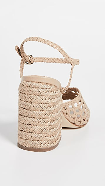 Paloma Barcelo Verane Woven Heeled Sandals