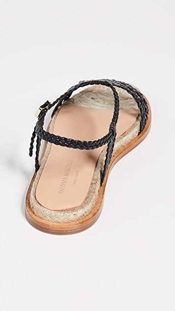 Paloma Barcelo Плетеные сандалии на плоской подошве Sandrine