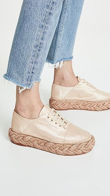 Paloma Barcelo Salome 编织底坡跟便鞋